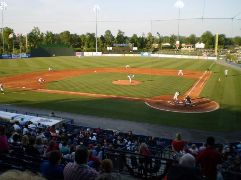 Uitzicht voor State Mutual Stadium Vak 206 Rij 12 Stoel 1