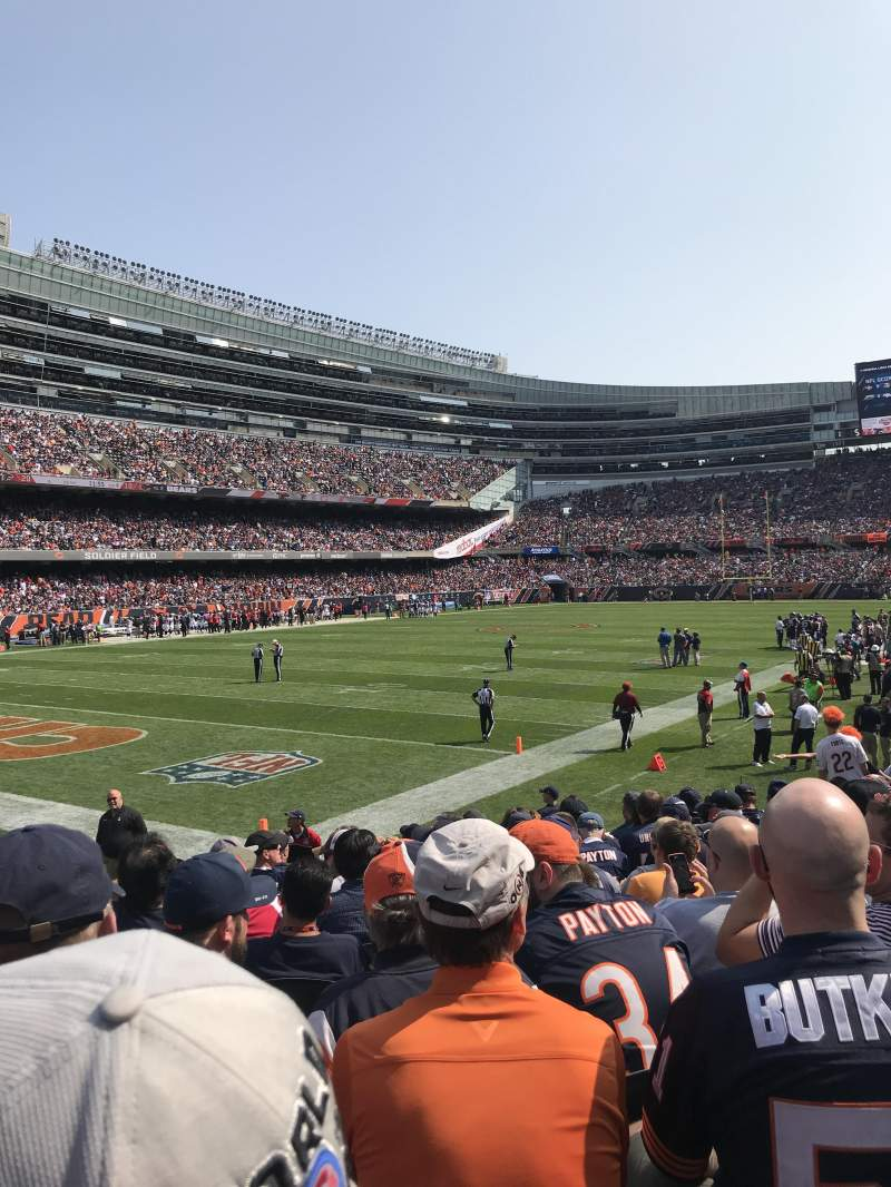 Soldier Field, vak: 146, rij: 11, stoel: 8