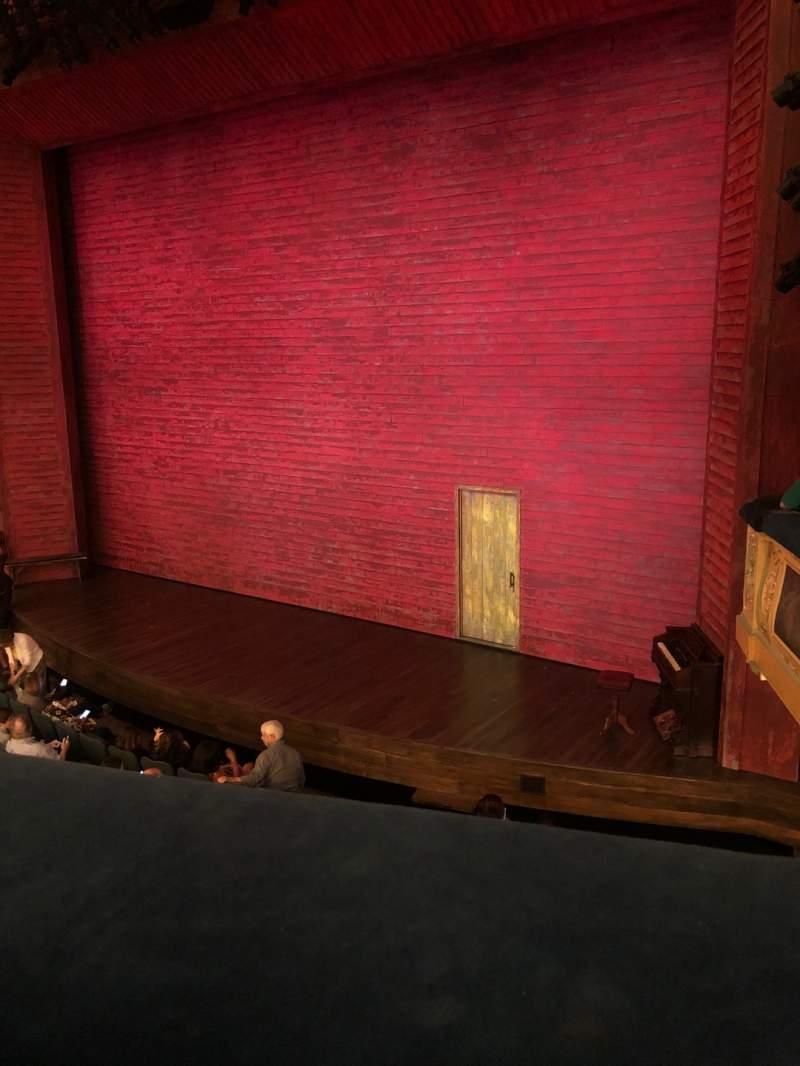 Uitzicht voor Shubert Theatre Vak Mezzanine R Rij A Stoel 16