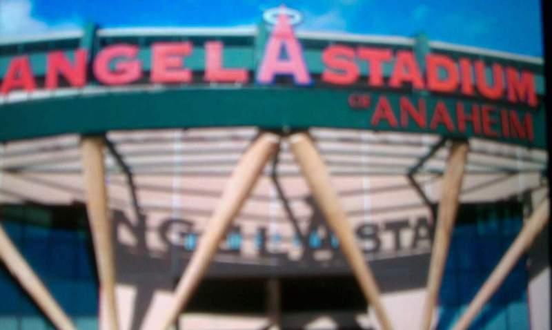 Uitzicht voor Angel Stadium Vak entrance