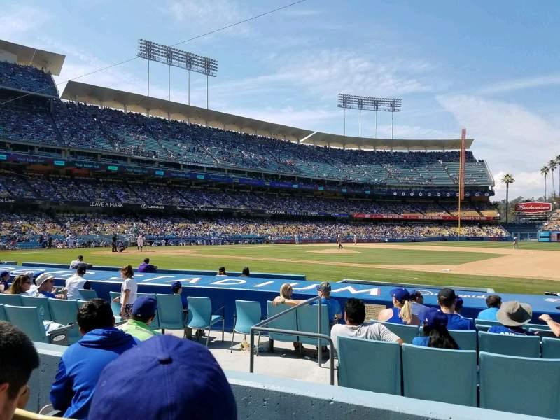 Uitzicht voor Dodger Stadium Vak 24FD Rij C Stoel 4