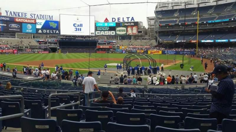 Uitzicht voor Yankee Stadium Vak 121A Rij 11 Stoel 7