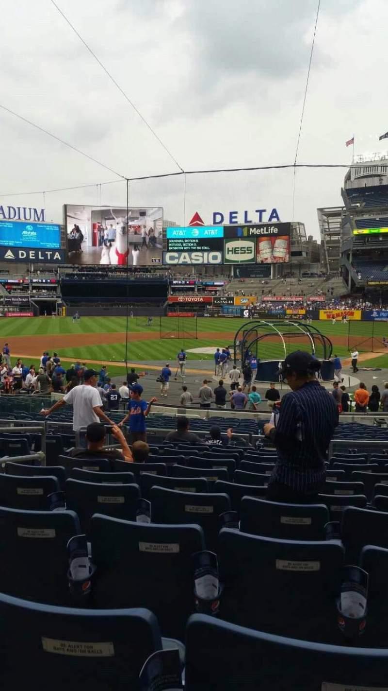 Uitzicht voor Yankee Stadium Vak 121A Rij 11 Stoel 6