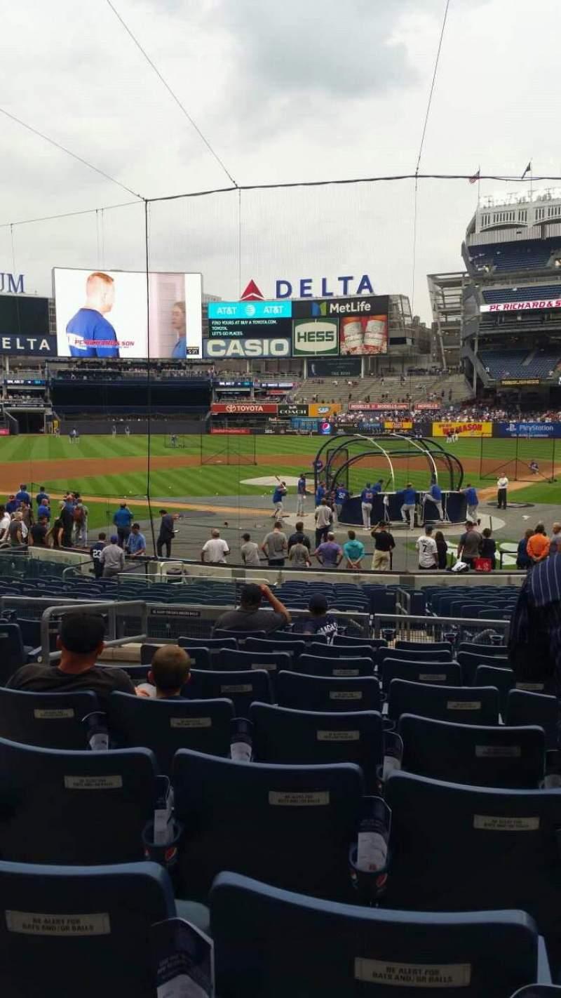 Uitzicht voor Yankee Stadium Vak 121A Rij 9 Stoel 10