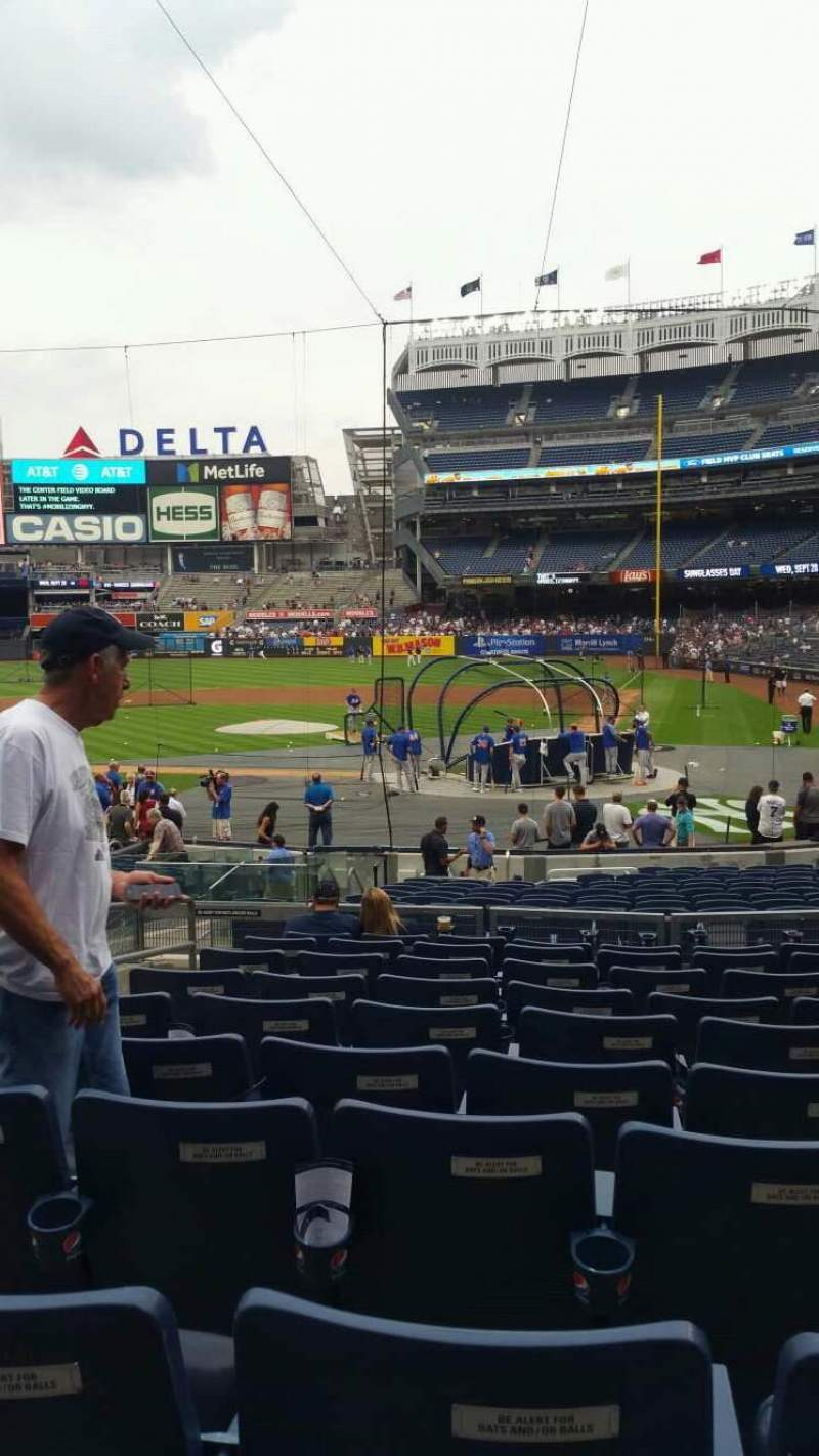 Yankee Stadium, vak: 121B, rij: 10, stoel: 10
