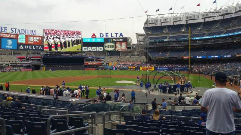 Yankee Stadium, vak: 121B, rij: 10, stoel: 11