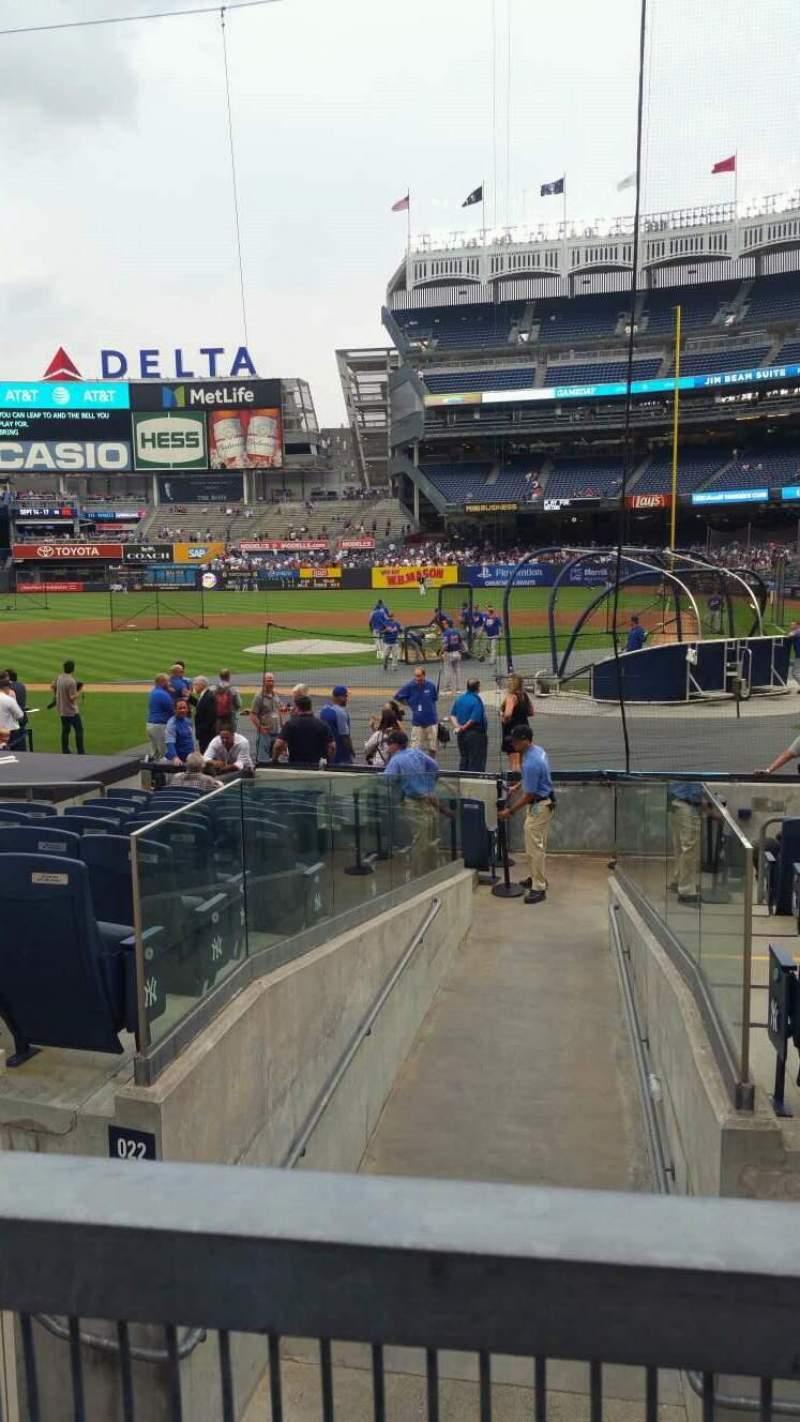 Yankee Stadium, vak: 122, rij: 3, stoel: 2