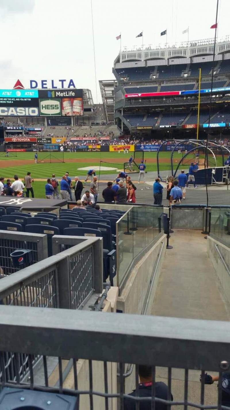Yankee Stadium, vak: 122, rij: 3, stoel: 4
