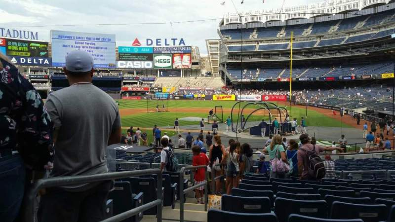 Yankee Stadium, vak: 121B, rij: 11, stoel: 8
