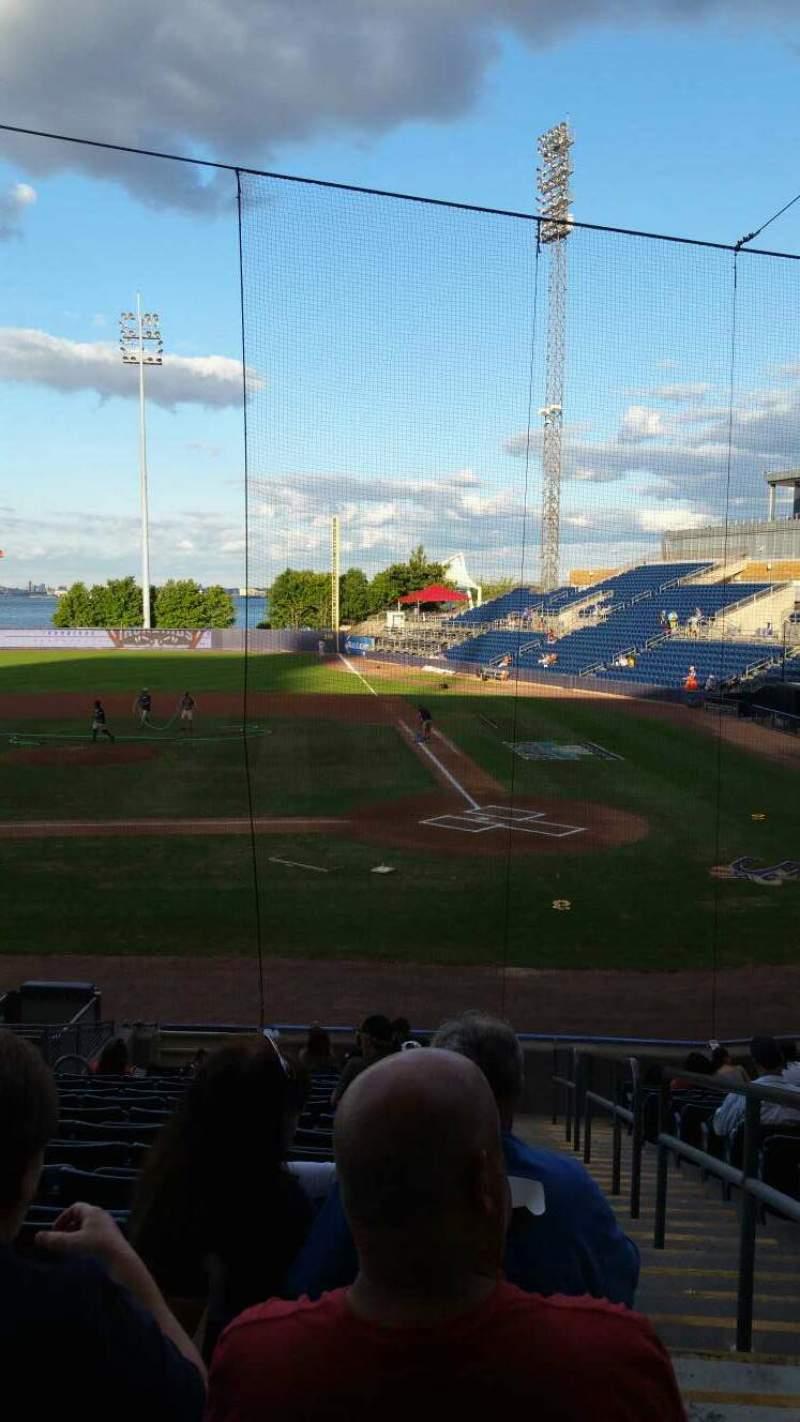 Uitzicht voor Richmond County Bank Ballpark Vak 7 Rij R Stoel 1