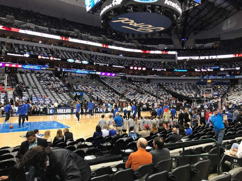 American Airlines Center, vak: 108, rij: F, stoel: 8