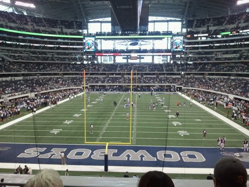 Uitzicht voor AT&T Stadium Vak 248 Rij 3 Stoel 12
