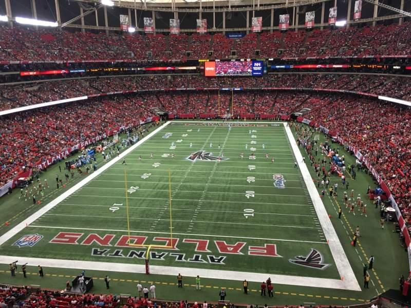 Uitzicht voor Georgia Dome Vak 333 Rij 1 Stoel 7