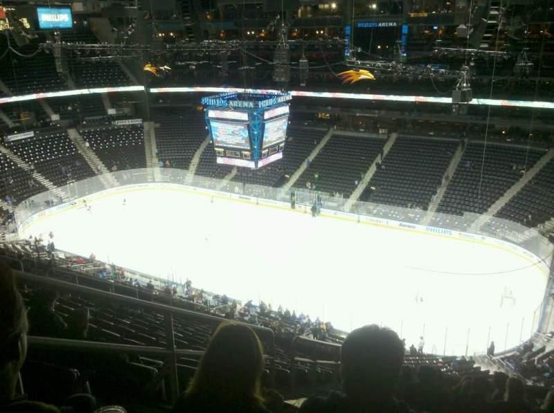 Philips Arena, vak: 307, rij: T, stoel: 20