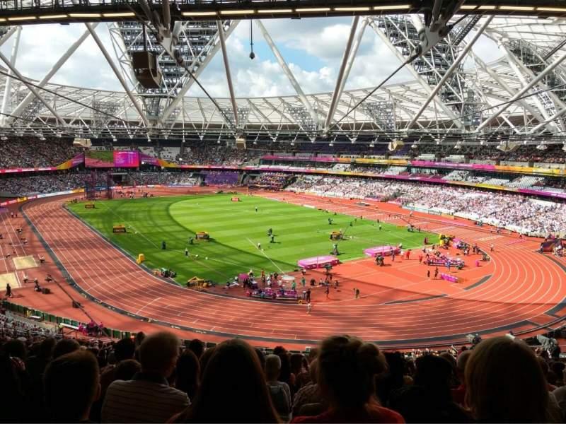 Uitzicht voor London Stadium Vak 245 Rij 61 Stoel 142