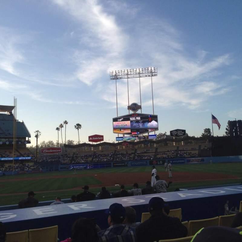 Uitzicht voor Dodger Stadium Vak 20FD Rij B Stoel 1