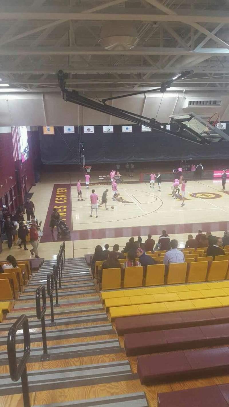 Uitzicht voor Hynes Athletic Center Vak 15 Rij V Stoel 15