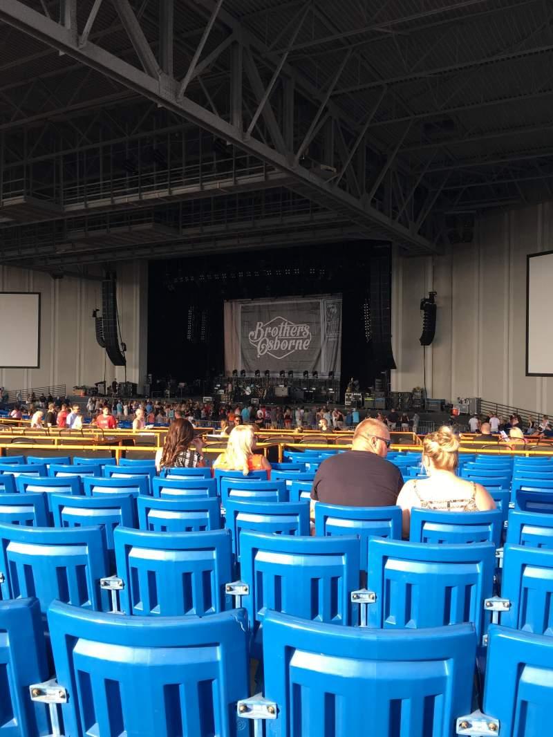 Uitzicht voor PNC Music Pavilion Vak 5 Rij Q Stoel 21