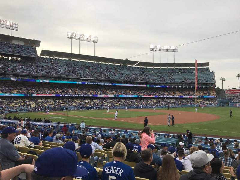Uitzicht voor Dodger Stadium Vak 32FD Rij O Stoel 6