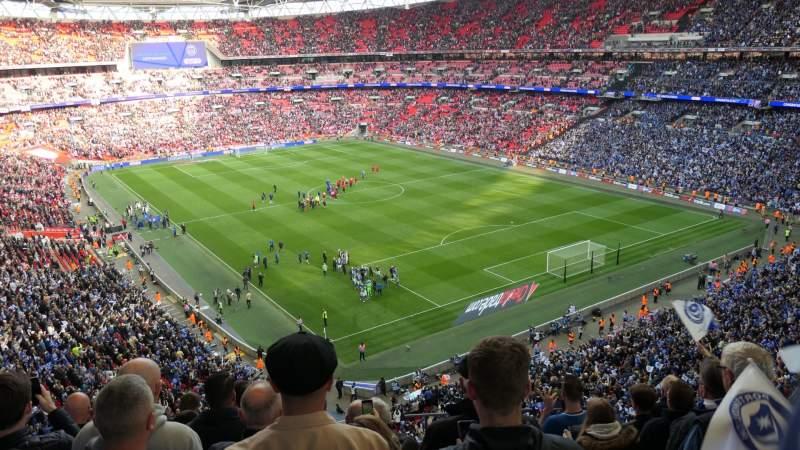 Uitzicht voor Wembley Stadium Vak 544 Rij 7 Stoel 135