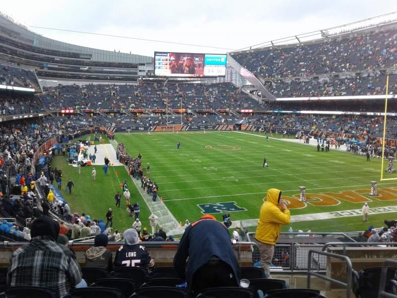 Soldier Field, vak: 255, rij: 7, stoel: 15