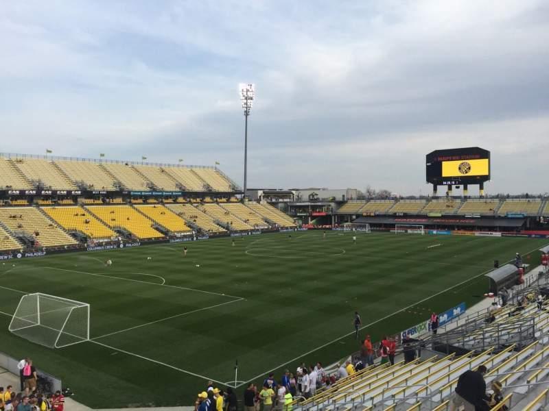 Uitzicht voor Mapfre Stadium Vak 132 Rij 24 Stoel 30