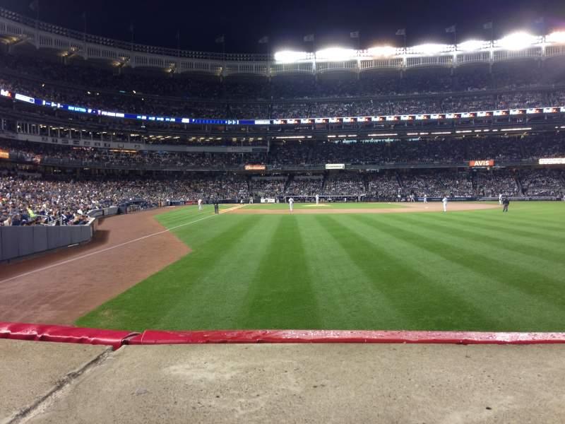 Uitzicht voor Yankee Stadium Vak 106 Rij 10 Stoel 7