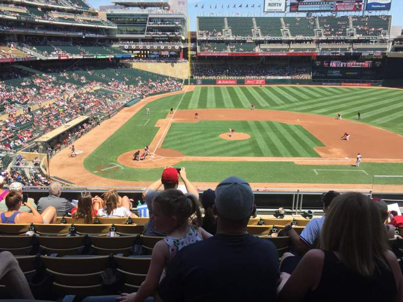 Target Field, vak: D, rij: 7, stoel: 4