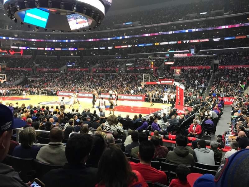 Staples Center, vak: 109, rij: 10, stoel: 3