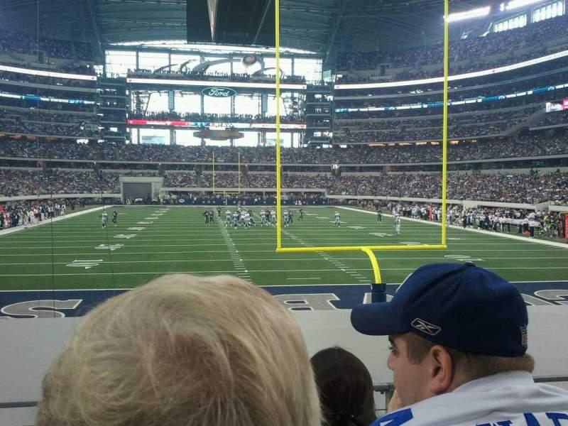 Uitzicht voor AT&T Stadium Vak 123 Rij 10 Stoel 24