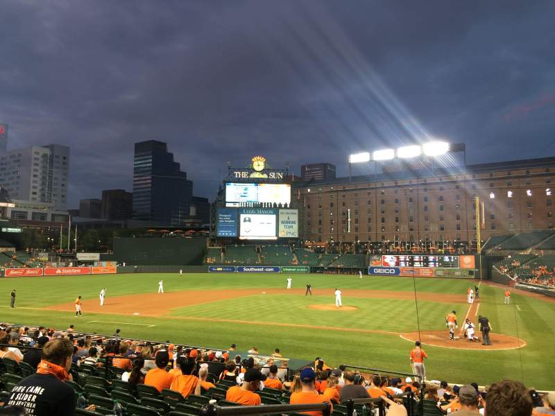 Oriole Park at Camden Yards, vak: 42, rij: 20