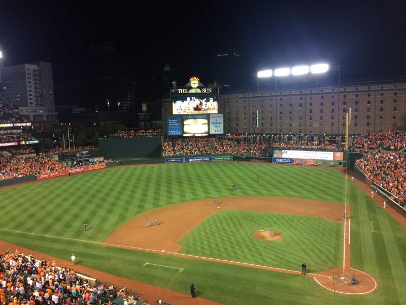 Oriole Park at Camden Yards, vak: 348, rij: 3