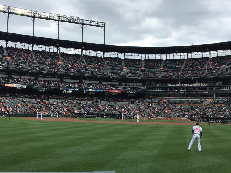 Oriole Park at Camden Yards, vak: 84, rij: 1