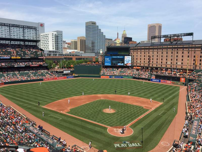 Oriole Park at Camden Yards, vak: 340, rij: 5