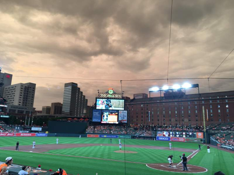Oriole Park at Camden Yards, vak: 44, rij: 16