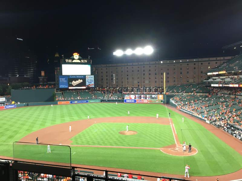 Oriole Park at Camden Yards, vak: 244, rij: 4