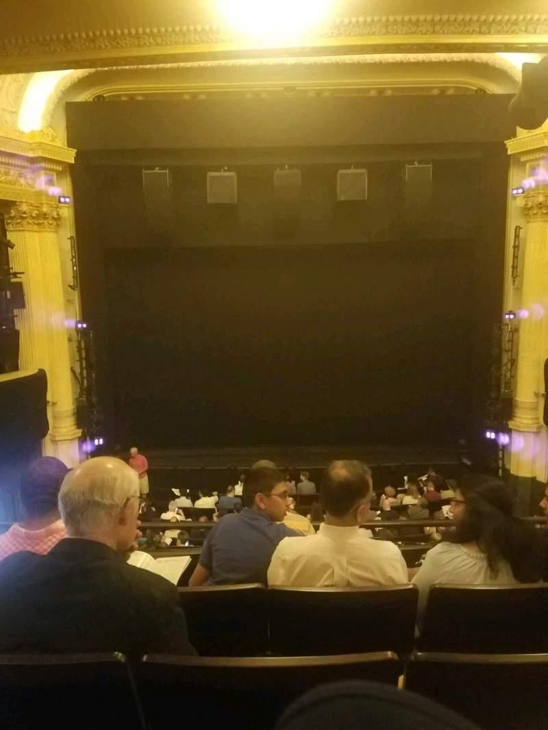 Hudson Theatre, vak: dress circle, rij: e, stoel: 108
