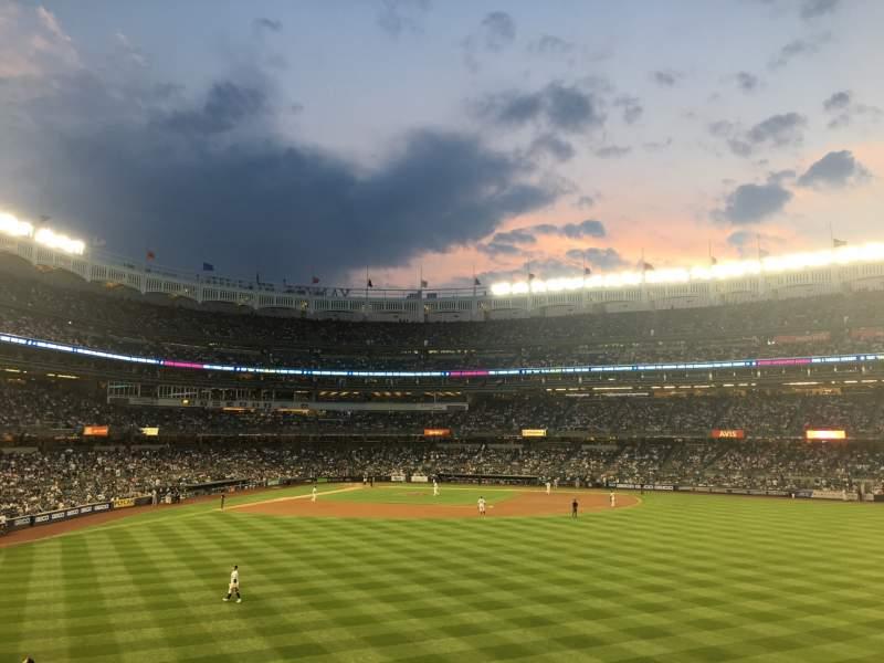 Uitzicht voor Yankee Stadium Vak 203 Rij 5 Stoel 2