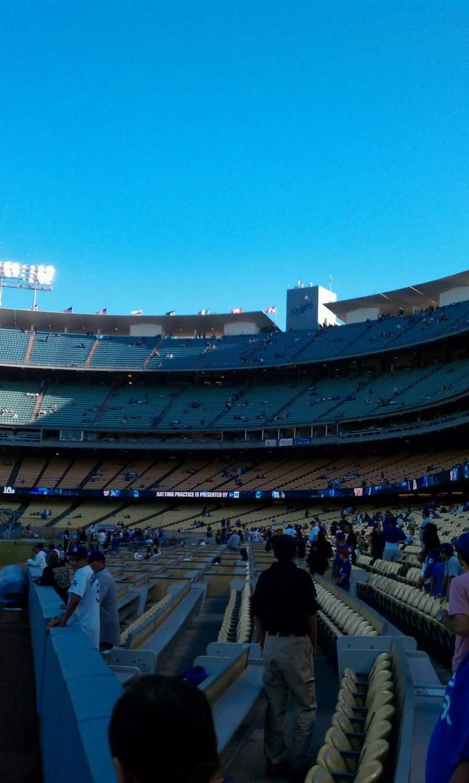 Uitzicht voor Dodger Stadium Vak 49FD Rij AA Stoel 01