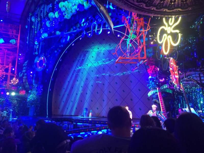 Uitzicht voor Palace Theatre (Broadway) Vak Orch Right Rij L Stoel 6
