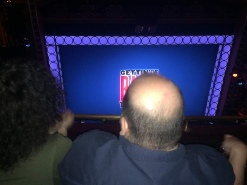 Belasco Theatre, vak: Balcony, rij: F, stoel: 103