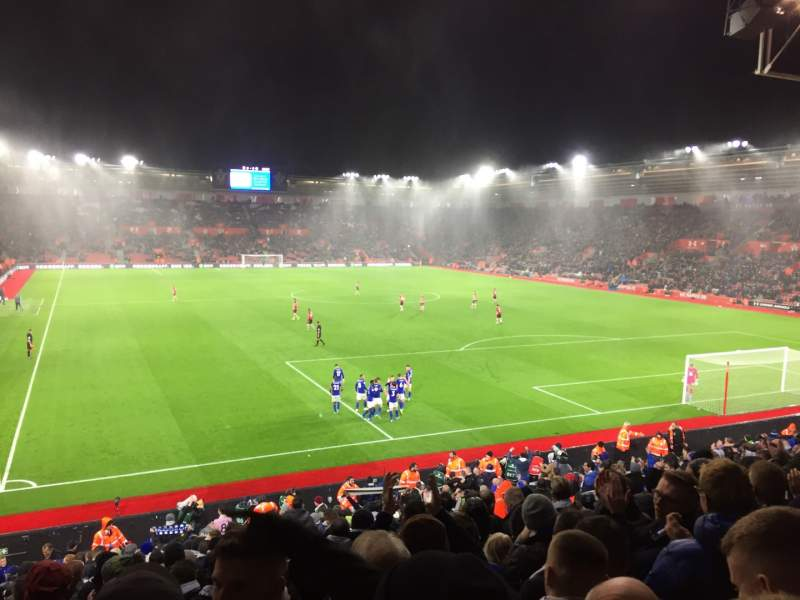 Uitzicht voor St Mary's Stadium Vak 45 Rij Y Stoel 1179