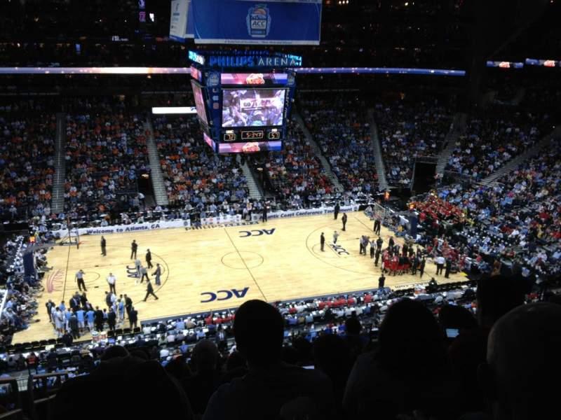 Philips Arena, vak: 311, rij: K, stoel: 20