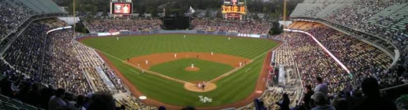 Uitzicht voor Dodger Stadium Vak 3RS Rij S Stoel 8