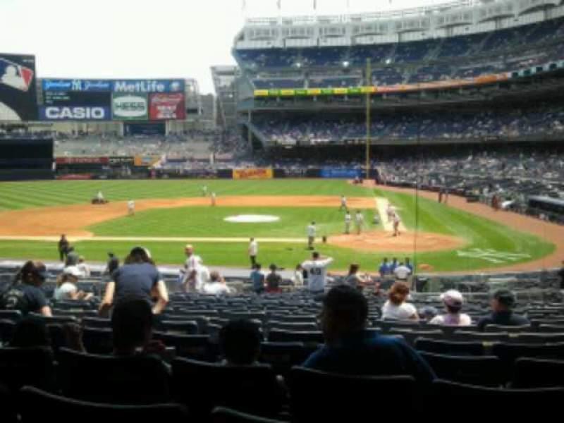 Yankee Stadium, vak: 122, rij: 29, stoel: 11