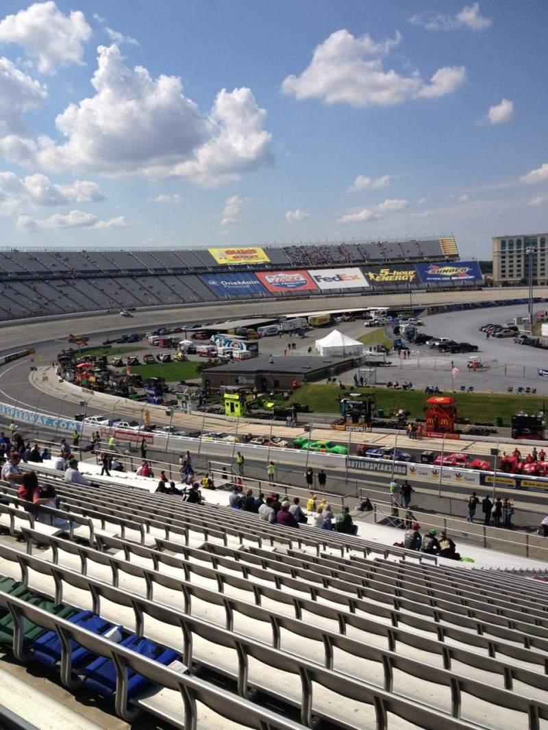 Uitzicht voor Dover International Speedway Vak 107 Rij 45 Stoel 8