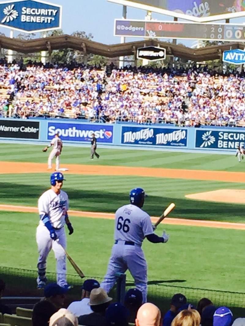 Dodger Stadium, vak: 9FD, rij: E, stoel: 1