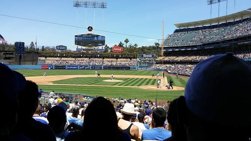 Dodger Stadium, vak: 9fd, rij: U, stoel: 8