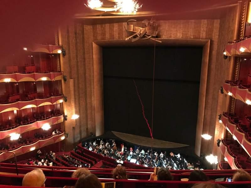 Metropolitan Opera House - Lincoln Center, vak: Balcony, rij: D, stoel: 10