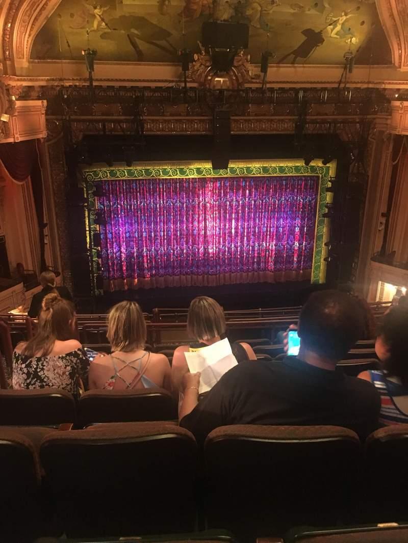 Uitzicht voor Hippodrome Theatre Vak Center Middle Balcony Rij L Stoel 102